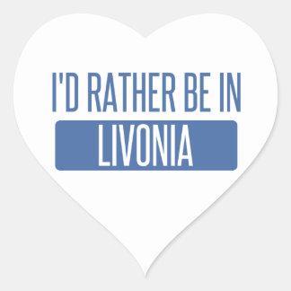 Pegatina En Forma De Corazón Estaría bastante en Livonia