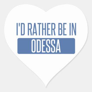 Pegatina En Forma De Corazón Estaría bastante en Odessa