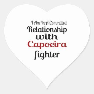 Pegatina En Forma De Corazón Estoy en una relación confiada con el higo de