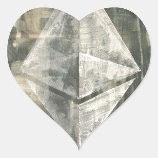 Pegatina En Forma De Corazón Ethereum