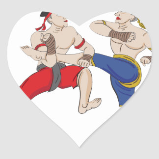 Pegatina En Forma De Corazón Excesivo tailandés de Muay todo