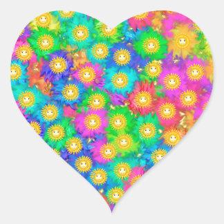 Pegatina En Forma De Corazón Felicidad