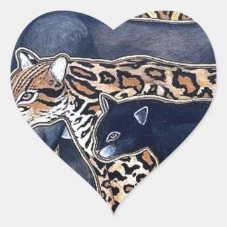 Pegatina En Forma De Corazón Felinos de Costa Rica - Big cats