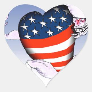 Pegatina En Forma De Corazón fernandes tony ruidosos y orgullosos de Carolina