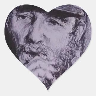 Pegatina En Forma De Corazón Fidel Castro