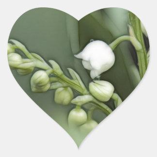 Pegatina En Forma De Corazón Flores del lirio de los valles