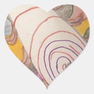 Pegatina En Forma De Corazón Flotación en el vacío del arco iris