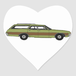 Pegatina En Forma De Corazón furgoneta retra