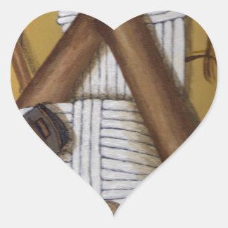 Pegatina En Forma De Corazón Grillo del vintage
