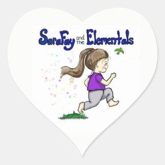 Pegatina En Forma De Corazón Hada de Sara y los pegatinas de Elementals para