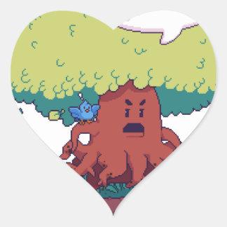 Pegatina En Forma De Corazón Haga como un árbol
