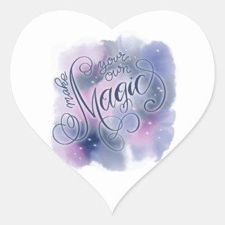 Pegatina En Forma De Corazón Hágale poseen magia