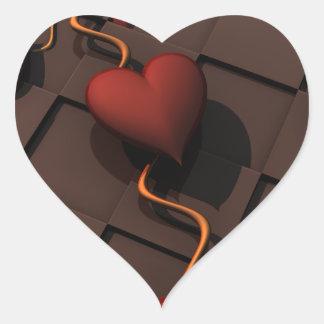 Pegatina En Forma De Corazón hearth