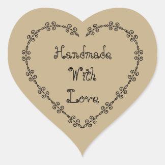 Pegatina En Forma De Corazón Hecho a mano con los pegatinas del amor