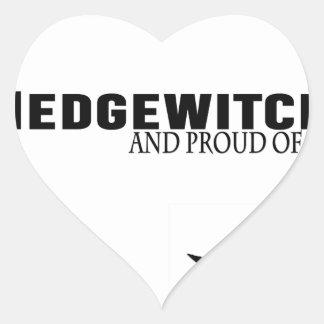 Pegatina En Forma De Corazón Hedgewitch y orgulloso de él
