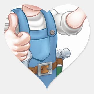 Pegatina En Forma De Corazón Herramienta de la paleta del trabajador de