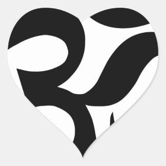 Pegatina En Forma De Corazón hindu3