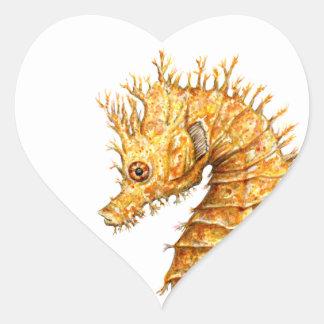 Pegatina En Forma De Corazón Hipocampo del hipocampo del caballo de mar