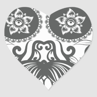 Pegatina En Forma De Corazón Hipster sugar skull 4