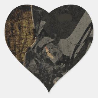 Pegatina En Forma De Corazón Hombre con la máscara protectora en la placa de