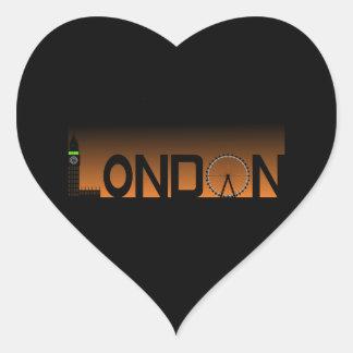 Pegatina En Forma De Corazón Horizonte de Londres