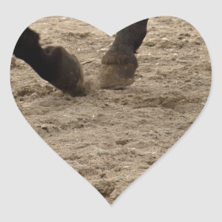 Pegatina En Forma De Corazón Horse hooves