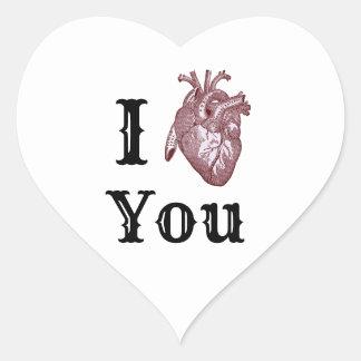 Pegatina En Forma De Corazón I corazón usted