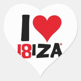Pegatina En Forma De Corazón I love Ibiza 18IZA Edición Especial 2018