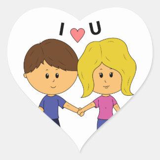 Pegatina En Forma De Corazón I pares de Luv U Chibi