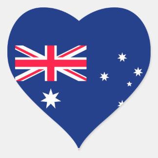 Pegatina En Forma De Corazón Imagen de la bandera de Australia para