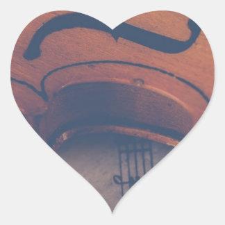 Pegatina En Forma De Corazón Instrumento musical clásico del instrumento de