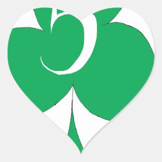 Pegatina En Forma De Corazón Irlandés afortunado 5 de los clubs, fernandes tony
