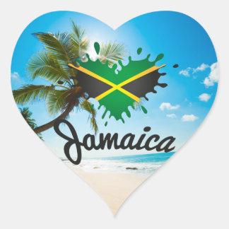 Pegatina En Forma De Corazón Jamaica Islandia Love - Proud Jamaicans bordadora
