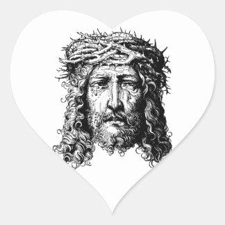 Pegatina En Forma De Corazón Jefe del Jesucristo