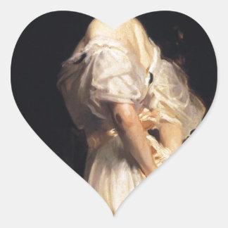 Pegatina En Forma De Corazón John Singer Sargent - Nancy Astor - bella arte