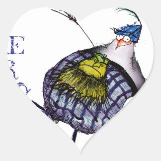 Pegatina En Forma De Corazón la danza de los haggis