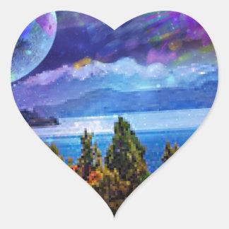 Pegatina En Forma De Corazón La fantasía y la imaginación viven juntas