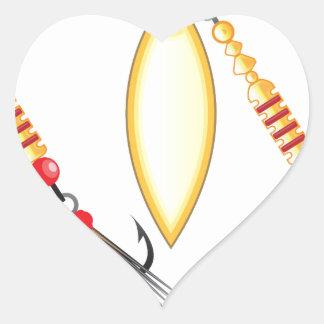 Pegatina En Forma De Corazón La hoja de oro y la forma oval diseñan la pesca