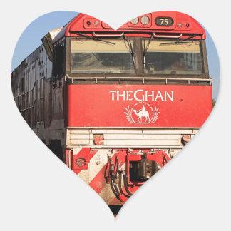 Pegatina En Forma De Corazón La locomotora del tren de Ghan, Darwin