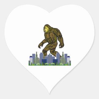 Pegatina En Forma De Corazón La milla verde