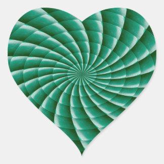 Pegatina En Forma De Corazón La PLANTILLA verde de Chakra de la rueda añade