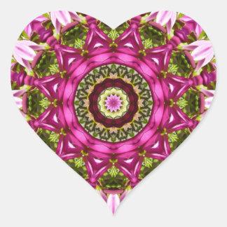 Pegatina En Forma De Corazón La primavera florece, pica, Flor-Mandala,