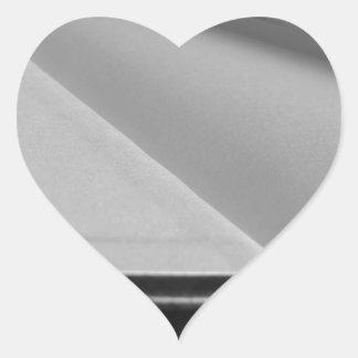 Pegatina En Forma De Corazón La segunda mano reserva con las páginas en blanco
