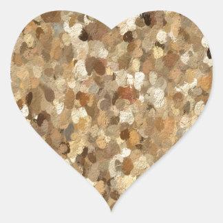 Pegatina En Forma De Corazón Las sombras de la judicatura marrón oscilan 1293