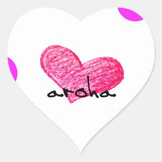 Pegatina En Forma De Corazón Lengua maorí del diseño del amor