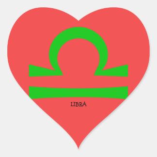 Pegatina En Forma De Corazón Libra