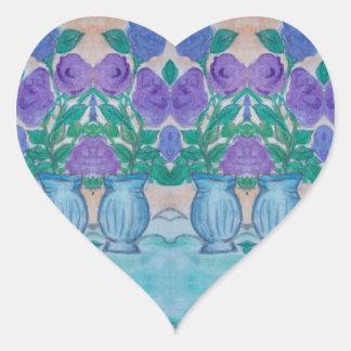 Pegatina En Forma De Corazón lilas