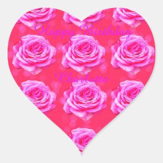 Pegatina En Forma De Corazón Logotipo conocido de los chicas del feliz