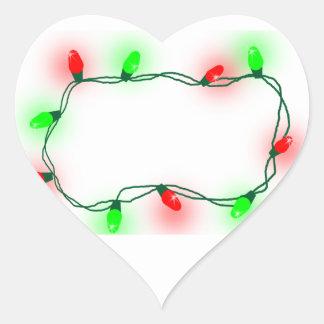 Pegatina En Forma De Corazón Luces de navidad