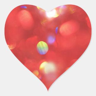 Pegatina En Forma De Corazón Luz de navidad Bokeh